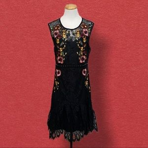 cklass Dresses - Cklass Mexican Style Lace Embroidered Dress L